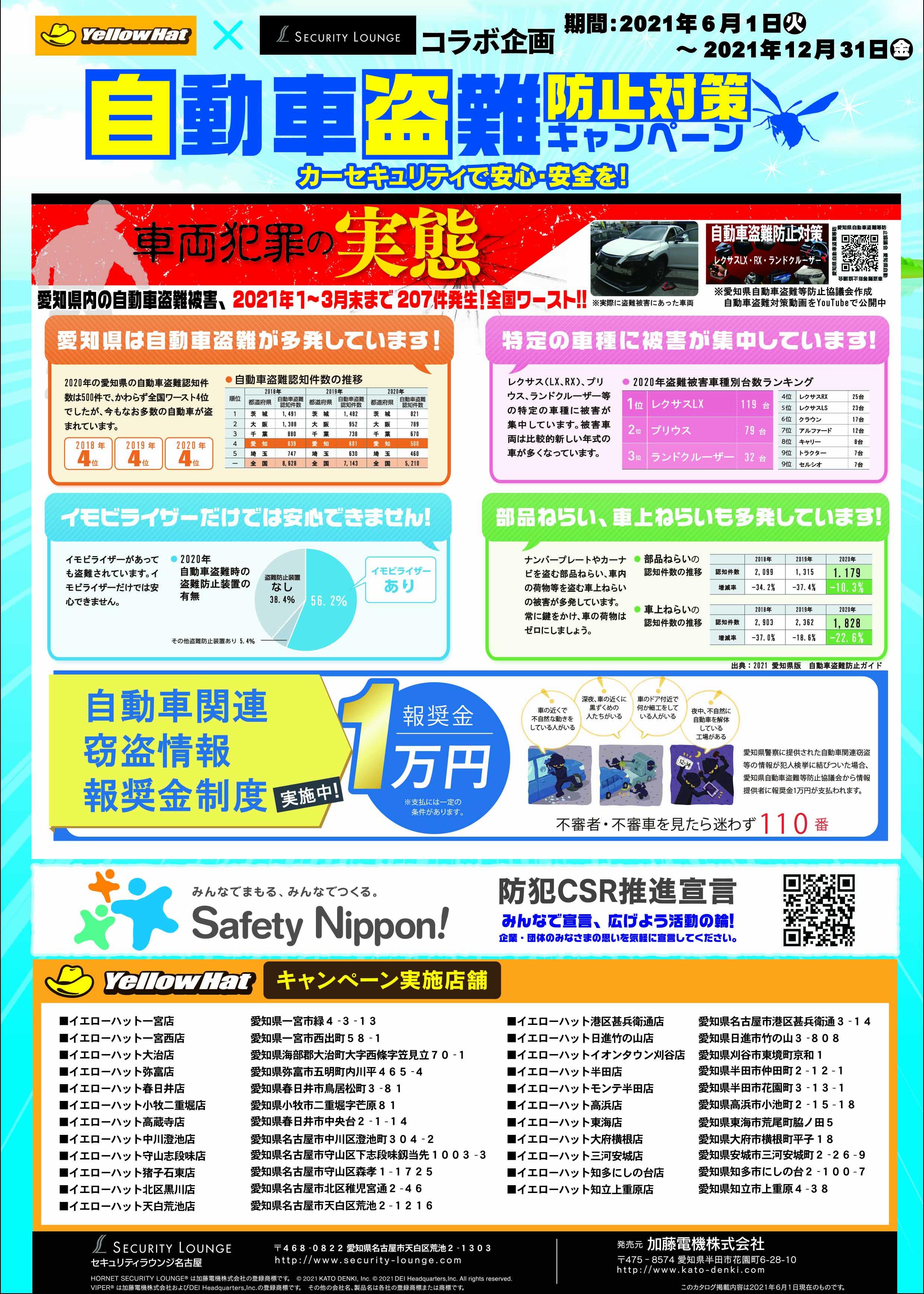 自動車盗難防止対策キャンペーン